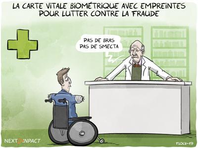 Au Sénat, feu vert à l'expérimentation d'une « carte Vitale biométrique »