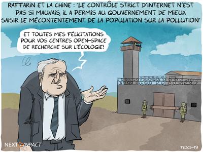 Jean-Pierre Raffarin justifie la surveillance d'internet en Chine