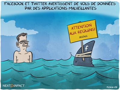 Facebook et Twitter avertissent de vols de données par des applications malveillantes