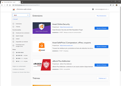 avast extensions chrome