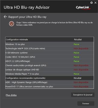 CyberLink Ultra HD Blu-ray Advisor
