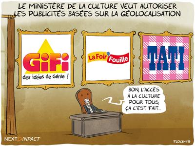 Le ministère de la Culture veut autoriser les publicités basées sur la géolocalisation