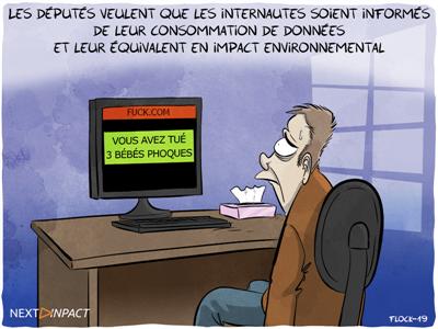 Les députés veulent que les internautes soient informés de leur « empreinte carbone »