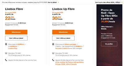 Orange Livebox fibre xDSL