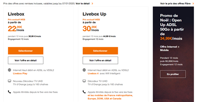 Orange Livebox fibre xDSL