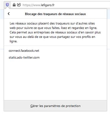 Firefox trackers Figaro