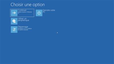 Windows 10 Démarrage avancé WinRE