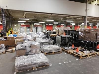 Arrivée des produits dans l'usine renouvellement technologique d'Erskine