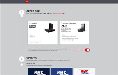 Sur la page de l'offre, aucune mention des 2 Gb/s avec la Box 8