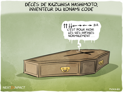 Décès de Kazuhisa Hashimoto, « ↑ ↑ ↓ ↓ ← → ← → B A » en deuil