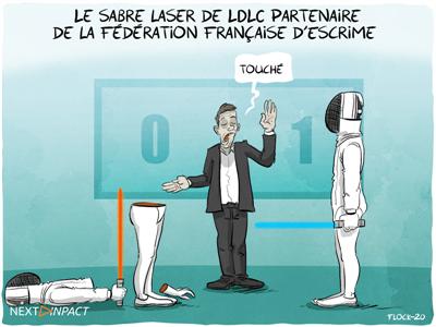Le sabre SOLAARI de LDLC partenaire de la Fédération Française d'Escrime (FFE)
