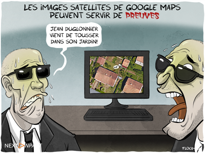 Les images satellites de Google Maps peuvent servir de preuv