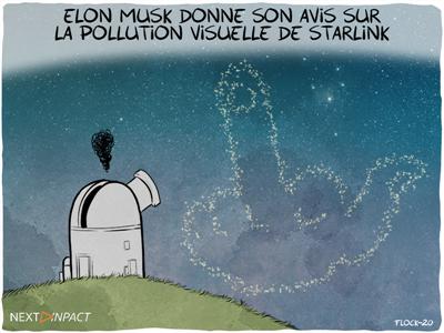 Internet par satellite : Elon Musk parle performances et pollution visuelle de Starlink