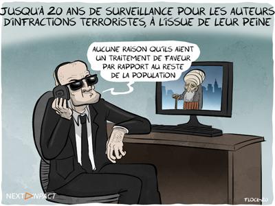 Jusqu'à 20 ans de surveillance pour les auteurs d'infractions terroristes, à l'issue de leur peine