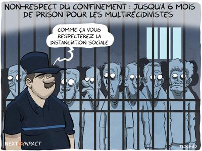 Non-respect du confinement : jusqu'à 6 mois de prison pour les multirécidivistes