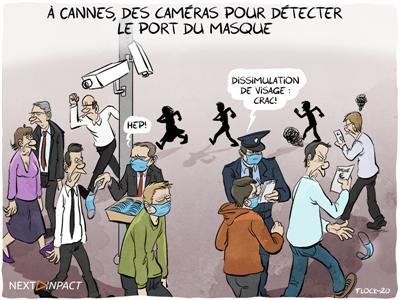 À Cannes, des caméras pour détecter le port du masque
