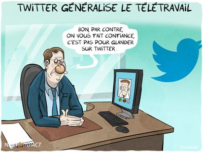 Twitter généralise le télétravail