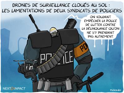 Drones de surveillance cloués au sol : les lamentations de deux syndicats de policiers