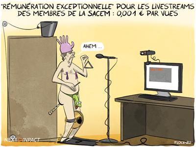 Une « rémunération exceptionnelle » pour les livestreams des membres de la SACEM
