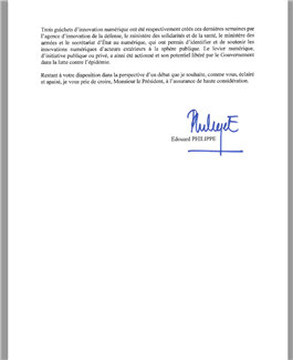 stopcovid edouard philippe lettre
