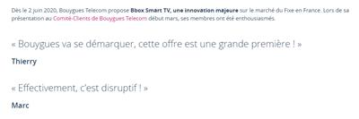 Bbox Smart TV Comité client