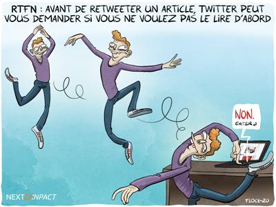 RTFN : avant de retweeter un article, Twitter peut vous demander si vous ne voulez pas le lire d'abord