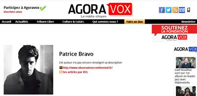 AgoraVox Patrice Bravo