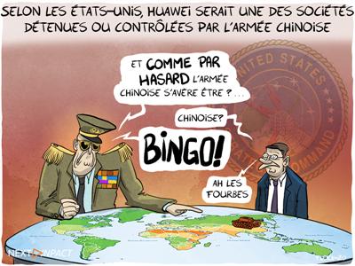 Selon les États-Unis, Huawei serait une des sociétés « détenues ou contrôlées par l'armée chinoise »
