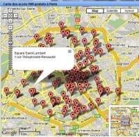 carte accès wifi paris