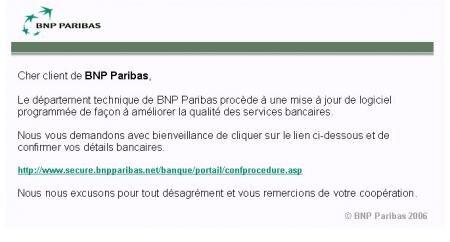 BNP Paribas phishing 2006