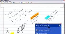 tablet PC reconnaissance écriture MIcrosoft alcatel