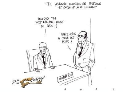 youtube TF1 procès vidéo LCEN snut