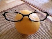Orange lunettes