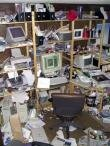 bureau désordre surf travail productivité