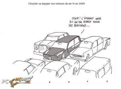 Dessin Chrysler Wi-Fi 3G Voiture