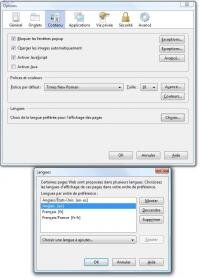 filtrage langue internet explorer