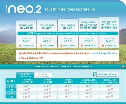 Bouygues Telecom Neo Internet illimité