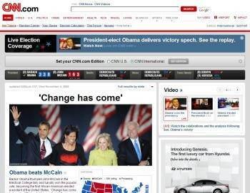 CNN accueil Obama McCain
