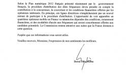 commission européenne licence 3G quatrième