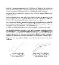 asic lettre parlementaire