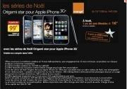 Orange Origami Star Noel Apple iPhone 3G