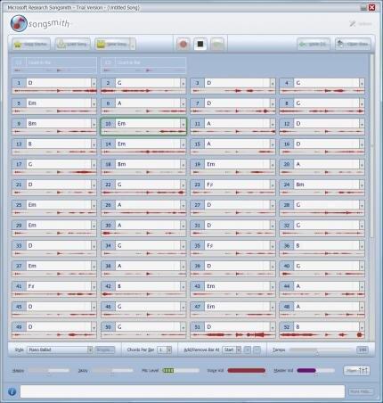 songsmith PCINpact chanson microsoft