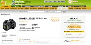 fnac nikon AF-S DX VE 18-105mm erreur étiquette prix