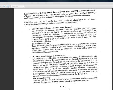 CGTI document chiffrage contre mesure Hadopi