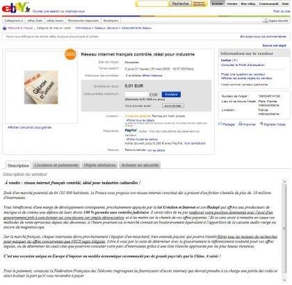Internet français à vendre ebay