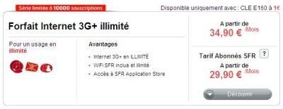 SFR Forfait Internet 3G+ illimité
