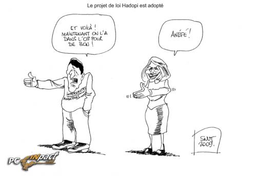 dessin snut hadopi adoptée albanel