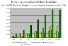 Cinema depenses menages 1980-2007