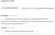 commentaires TF1 anti hadopi salarié
