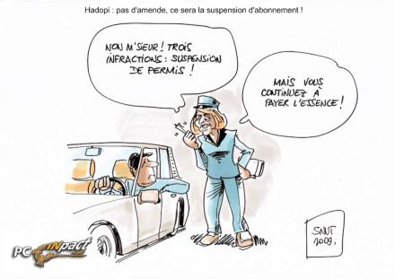 albanel suspension HADOPI sanction FAI